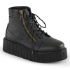 V-CREEPER-571 Black Vegan Leather